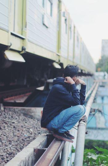 INDONESIA Male Model Street Photography Train