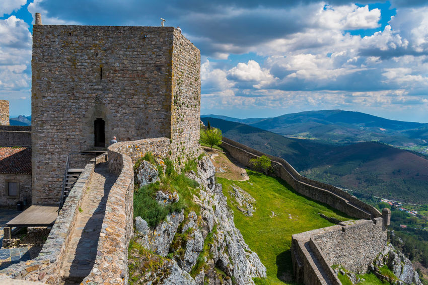 Castelo de Marvão Ancient Ancient Civilization Architecture Beauty In Nature Building Building Exterior Built Structure Cloud - Sky Day History Mountain Nature No People Old Outdoors Ruined Scenics - Nature Sky Stone Wall The Past Tourism Tranquil Scene Travel Travel Destinations