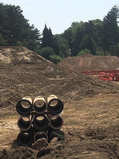 Buildingsite SeverallsEstate Colchester Pipes Dirt Visual Creativity