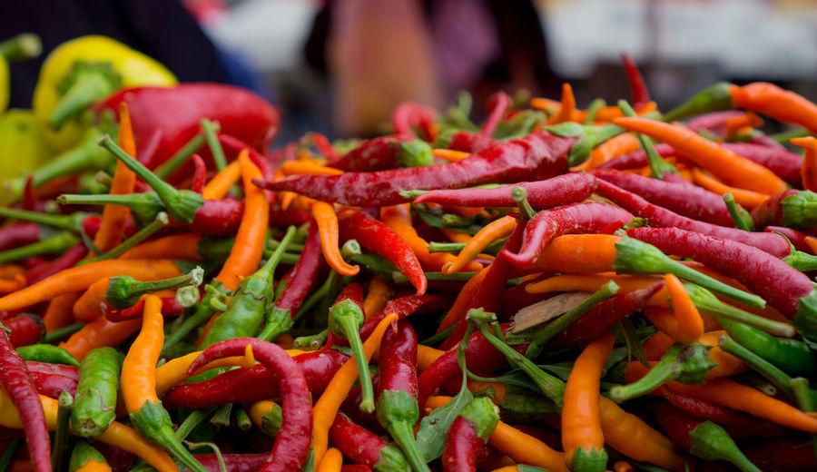 Close-up of vegetables for sale in market