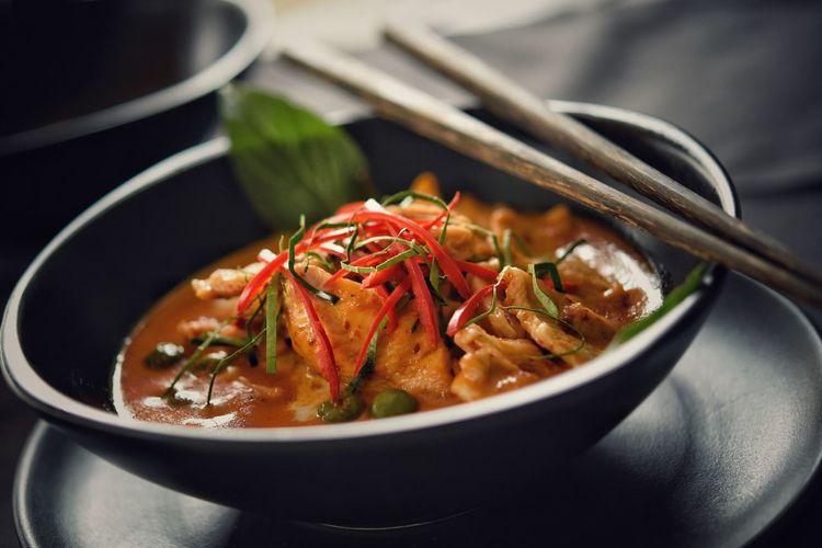 Close-up of thai food in bowl