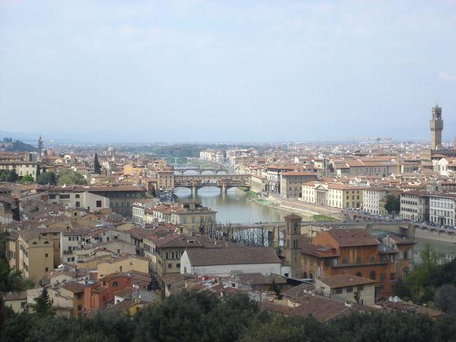 Aerial View Architecture Built Structure City Famous Place House Human Settlement Top Perspective Firenze Toscana