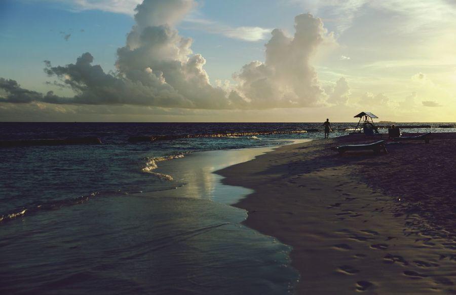 Water Sea Beach Horizon Over Water Tranquil Scene Scenics Incidental People Shore Sky Beauty In Nature Nature Calm Idyllic Cloud Coastline Cloud - Sky Outdoors Ocean Wave Eyeem Taking Photos Sunset Vacations