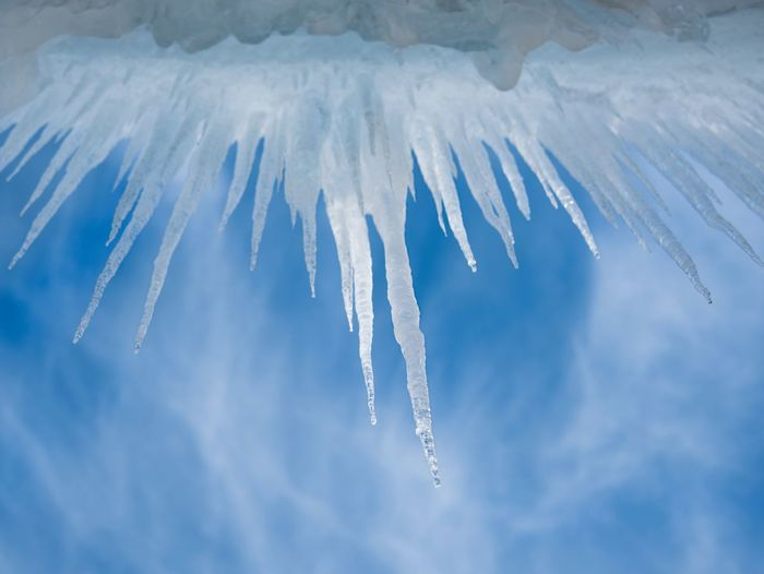 Frost Frozen Iceberg Icicle Cloud - Sky Nature Sky Airplane Ice Cold Temperature Winter Frozen Outdoors Blue Beauty In Nature Low Angle View
