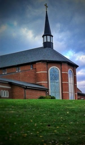 Architecture Grass Built Structure Religion Building Exterior Sky History Cloud - Sky Outdoors Place Of Worship No People Travel Destinations Day Rural Scene Nature Catholic Arcitecture St. Mary Of The Knobs Floyds Knobs, IN The Week On EyeEm EyeEmNewHere The Great Outdoors - 2017 EyeEm Awards Catholicism EyeEm Ready