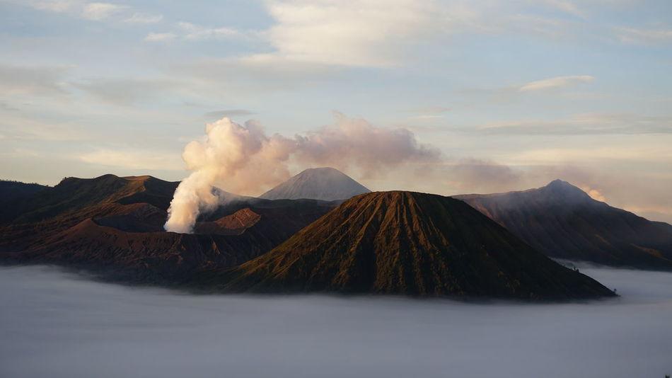 Volcano Smoking - Activity Cloud - Sky Mountain Ash Sky Outdoors No People Day