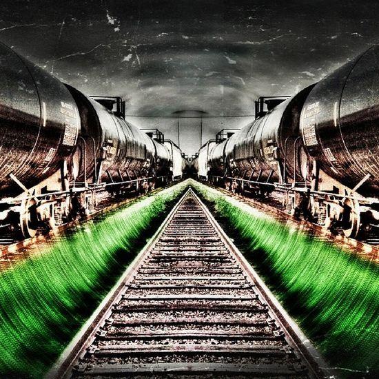 Trainyard Trains Bywater Distortion color/less nola neworleans
