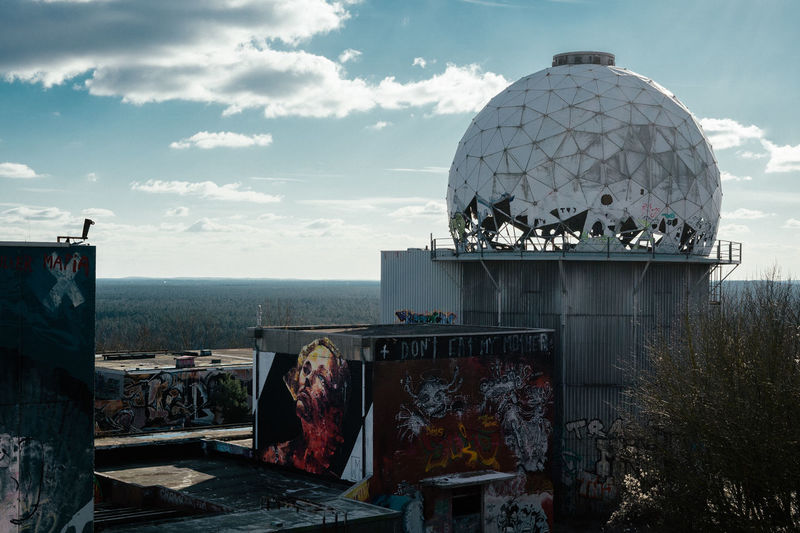 it was so freezing up there ... Berlin Graffiti Teufelsberg Berlin Architecture Building Exterior Built Structure City Cityscape Cloud - Sky Day Dome Forest Graffiti Art Horizon Lost Places Nature No People Outdoors Sky Teufelsberg