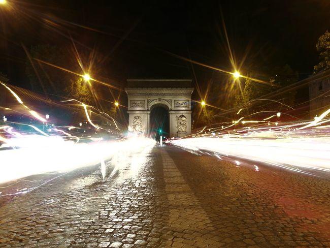 France🇫🇷 Paris ❤ Arc De Triomphe De L'Étoile Plus Belle Avenue Du Monde Light Painting Triumphal Arch Honor 8