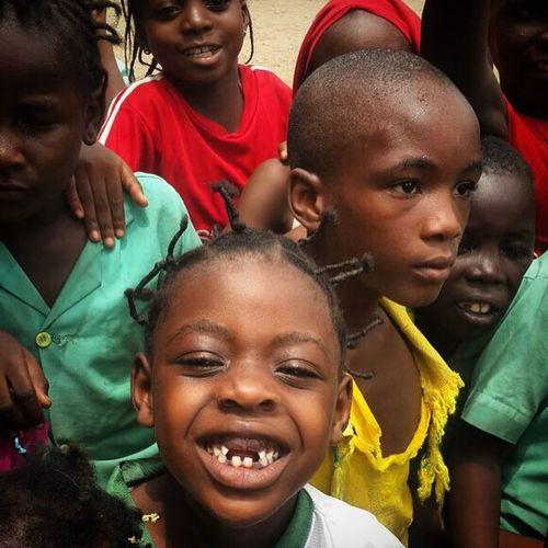 Hello World Beautiful Kids Afrika Cheese! Smile Happiness Student Douala  People