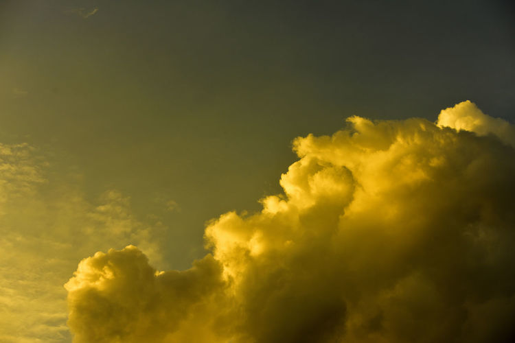 Low angle view of yellow sky