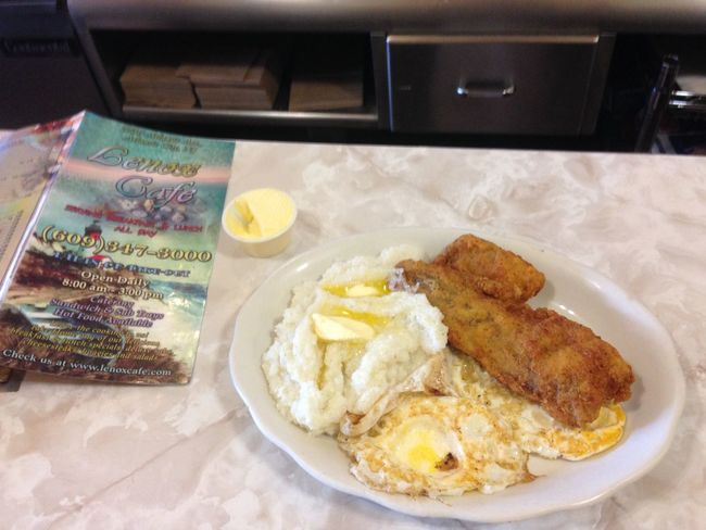 Time For Breakfast  Fish And Grits