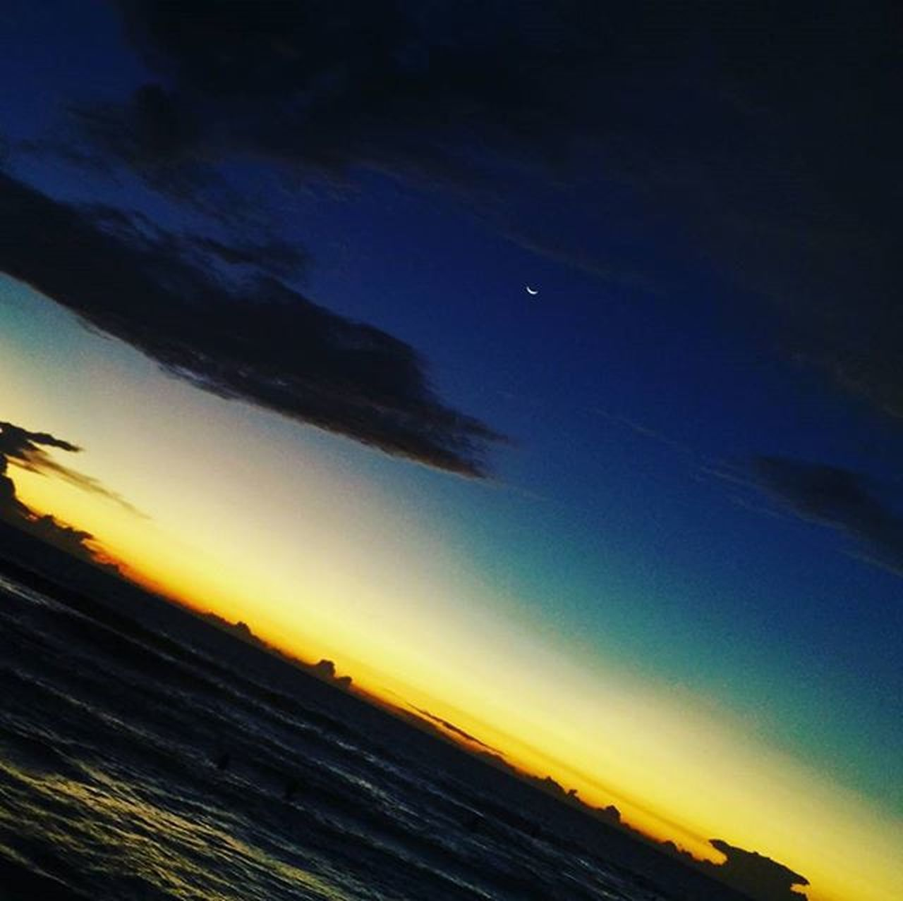 scenics, tranquil scene, nature, sky, no people, beauty in nature, night, outdoors, blue, sunset, star - space, moon, sea, astronomy, space