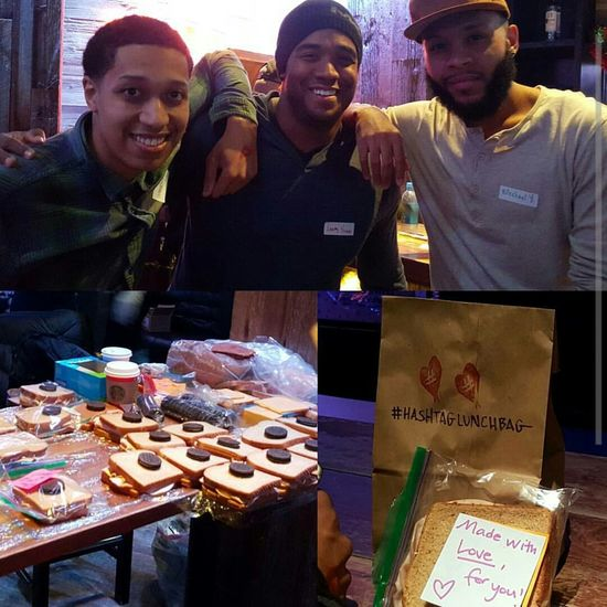 Giving back is better than the new crack Luxboothz.com Luxbros TevinWilliams Charity HashTagLunchBag