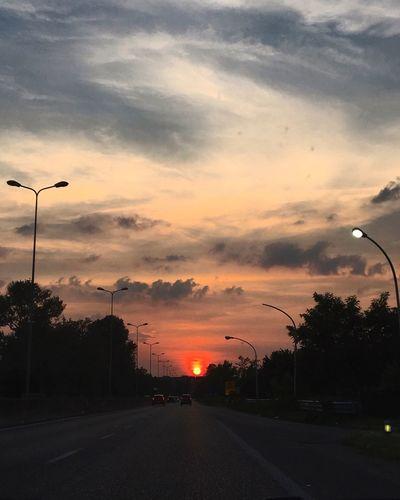 Sunset Road Car The Way Forward Cloud Cloud - Sky Sky Sun Orange Color Red Travel Travelshots