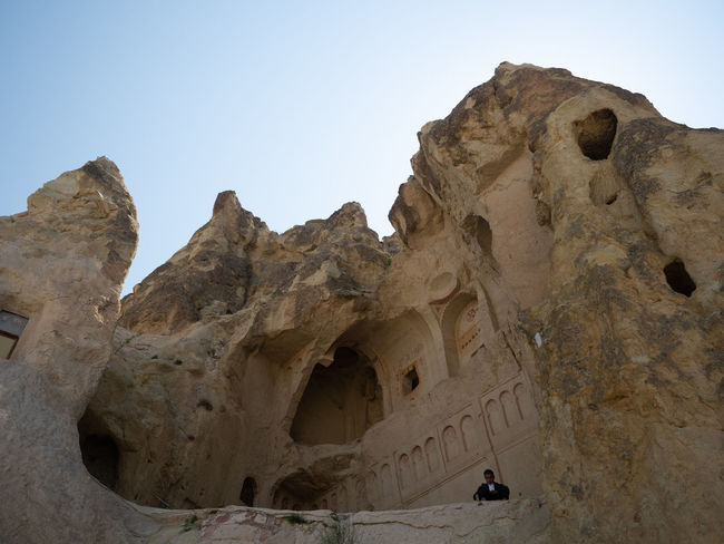 Cappadocia/Turkey Loneliness Travel Turkey Ancient Civilization Arid Climate Clear Sky Eroded Formation Geology Guard Guarding Dog History Nature Outdoors Physical Geography Rock Rock Formation Sadness Sitting Alone Solid The Past Travel Destinations Volcanic Landscape Volcanic Rock