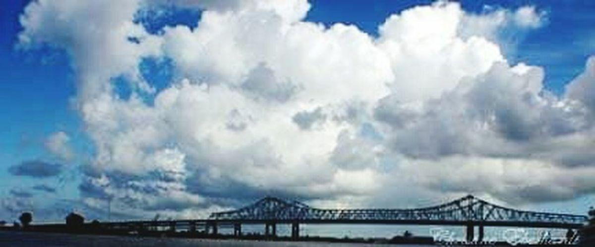 New Orleans Gno Bridge Mississippi River Hometown