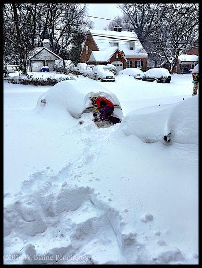 "Jessie's ""hideout"" Snowzilla Blizzard 2016 Epic Snow"