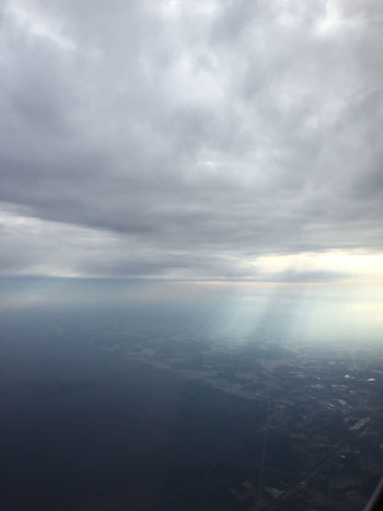 And then god said, Aerial View Cityscape Cloud - Sky Cloud Porn Landscape Nature Nature No People Outdoors Plane Window Sky Sun Rays Sun Shining