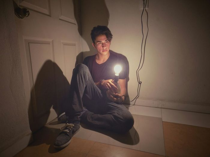 First Eyeem Photo Light Night Photography Photo Photograph Boy Focus Appeased Calm Room Lighting up the night.