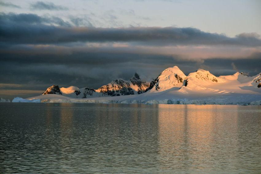 Alpenglow Antarctic Antarctic Peninsula Antarctic Sunset Antarctica Frozen Glacial Glacier Horizon Over Water Ice Iceberg LemaireChannel Ocean Ocean View Polar Summer Sea Sea And Sky Sunset