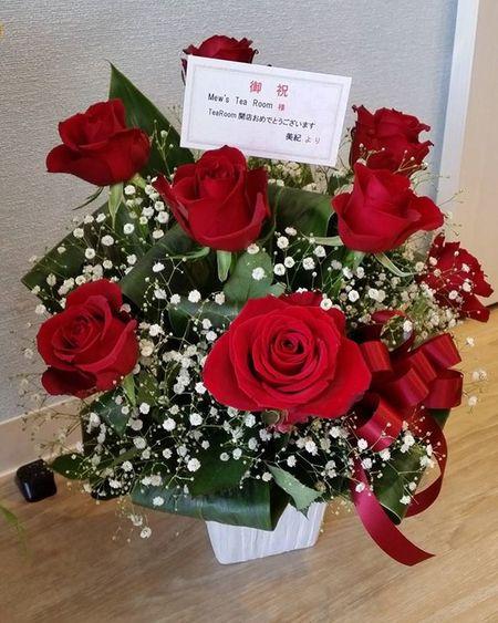 美紀さん、ステキなお花ありがとうございます!
