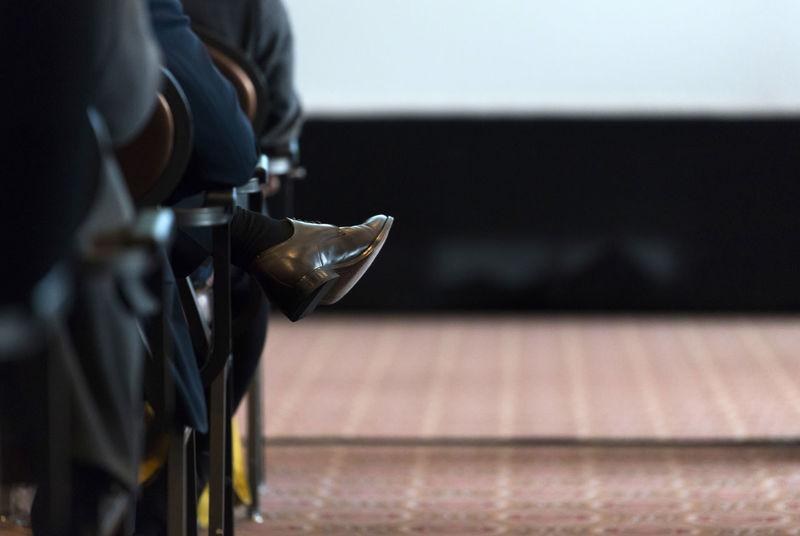Body Part Businessman Human Body Part Human Foot Human Leg Indoors  Leather Selectivefocus Shoe Shore Sitting