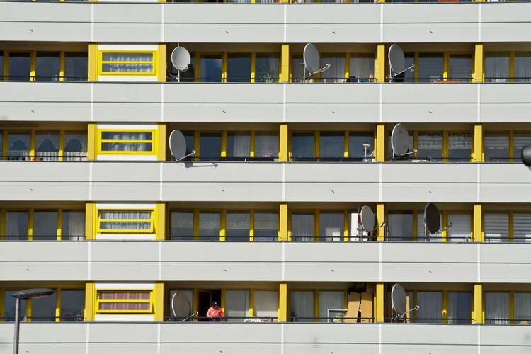 Architecture Backgrounds Building Building Exterior Built Structure City City Life EyeEm Façade Full Frame Glass - Material In A Row Low Angle View Residential Building Window Capture Berlin