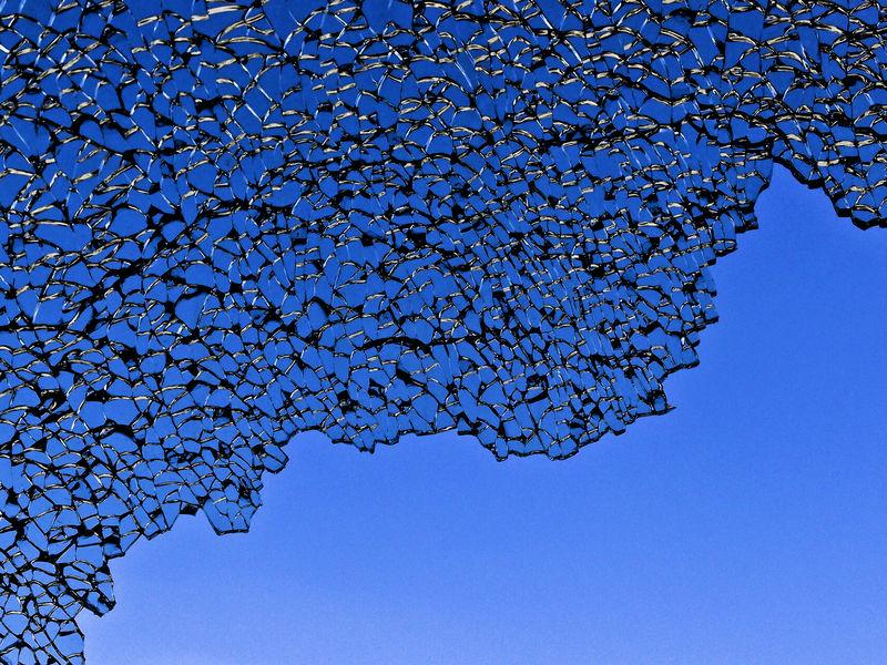 Escapology Accident Blue Blue Sky Broken Broken Glass Broken Windshield Car Accident Cracked EyeEm EyeEm Gallery Feeling Blue Hope Hopeful Minimal Minimalism Minimalist Minimalistic Minimalobsession Tempered Glass Windshield