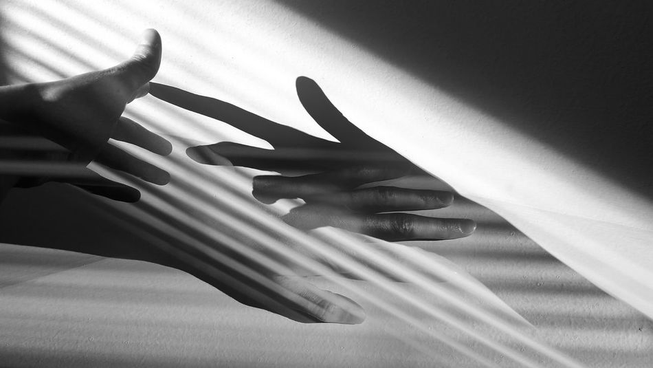 Playing With Shadows Creativity Human Hand Shadow Home Interior Human Finger Close-up Finger Hand Touching
