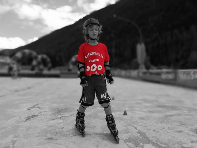 Rollerblader Mountains Kidsphotography The Portraitist - 2018 EyeEm Awards