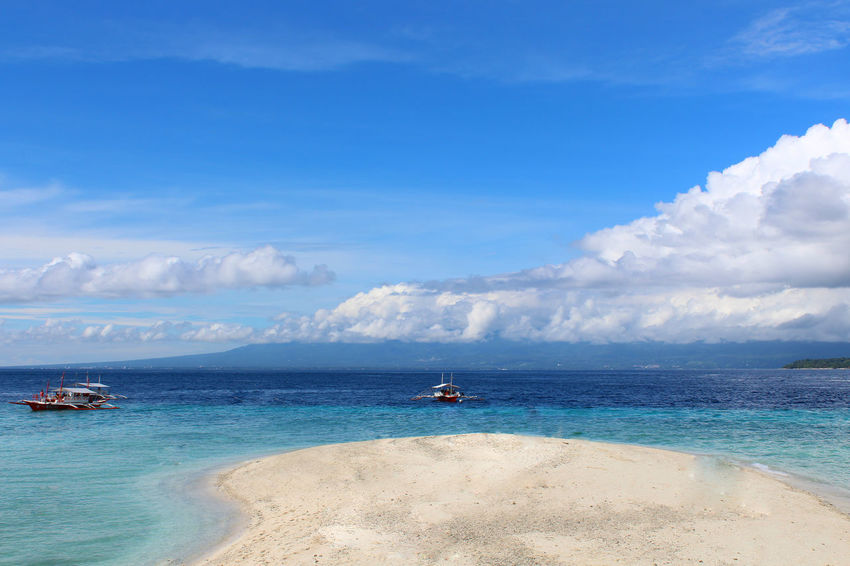 Beach Sea Sand Blue Water Sunny Cloud - Sky Sun Sky Nature Landscape Horizon Over Water Day Travel Destinations Beauty In Nature Beauty Outdoors Sunlight