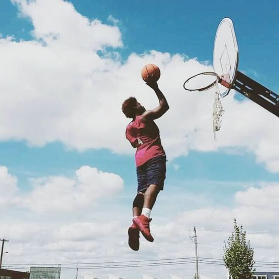 Sport Basketball - Sport Basketball Hoop Exercising Taking A Shot - Sport Jumping Sports Clothing Healthy Lifestyle Motion Adult Court Activity Young Adult One Person Ball Vitality Mid-air People Adults Only Playing