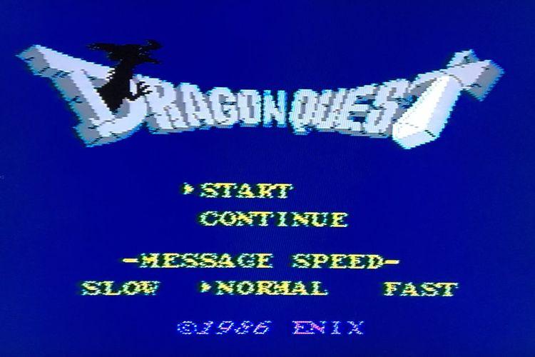 小学校の頃にハマった元祖ファミコンのドラクエが無事に起動! Blue Old Games Videogames Nintendo Family Computer DRAGON QUEST Origin 1986 Nintendo Nintendo Games Nintendolife Screenshot