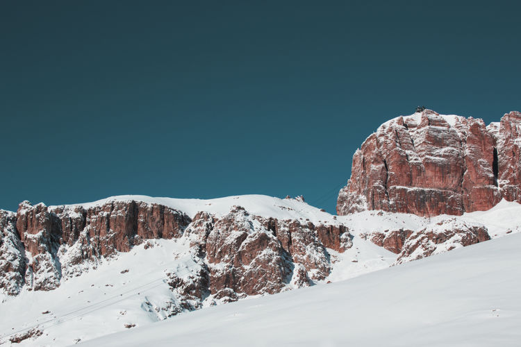INFRARED. ©Giulia Filippi. All rights reserved. Clear Sky Colors Dolomites, Italy Infrared Nature Panorama Rock Tranquility View Winter Beauty In Nature Cold Temperature Day Italy Landscape Mountain Mountain Range Outdoors Photographer Photography Scenics Scenics - Nature Sky Snow Sport