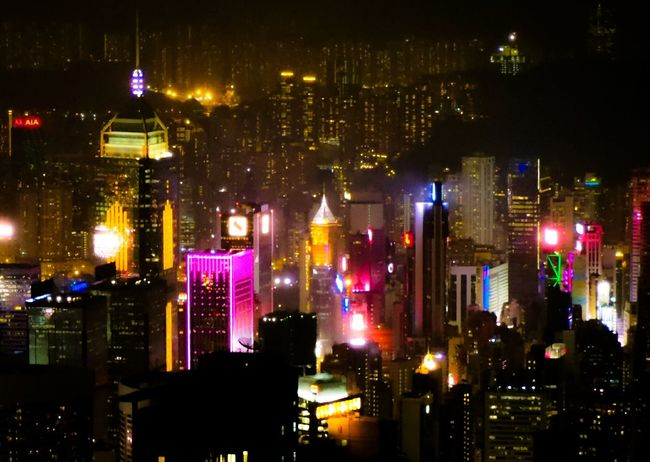 citylight of Hongkong City Cityscape Illuminated Nightlife Celebration Sky Architecture Building Exterior Capture Tomorrow