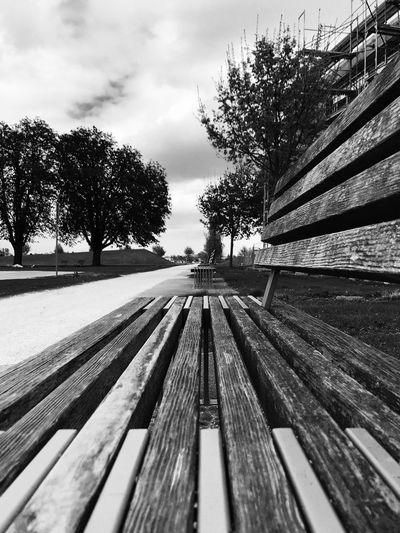 I call this one 'Go ahead'. It shows a park bench at the Wiley Park, Neu-Ulm. A good place to make sports! Park Blackandwhite Photography Black And White Photography Black & White Black And White Blackandwhite Bnw_collection Bnw Hochschule Neu-Ulm Germany Neu-Ulm Wiley Park Bench Tree Plant Sky Nature Day Cloud - Sky No People Diminishing Perspective Outdoors The Way Forward Direction Pattern Bench
