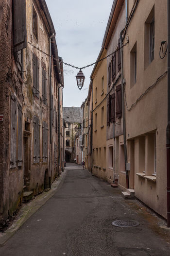 Alley Architecture Building Exterior Built Structure City City Life Day Empty House Long Lothringen Narrow No People Old Town Old Town Outdoors Residential Building Residential Structure Street Surface Level The Way Forward Town