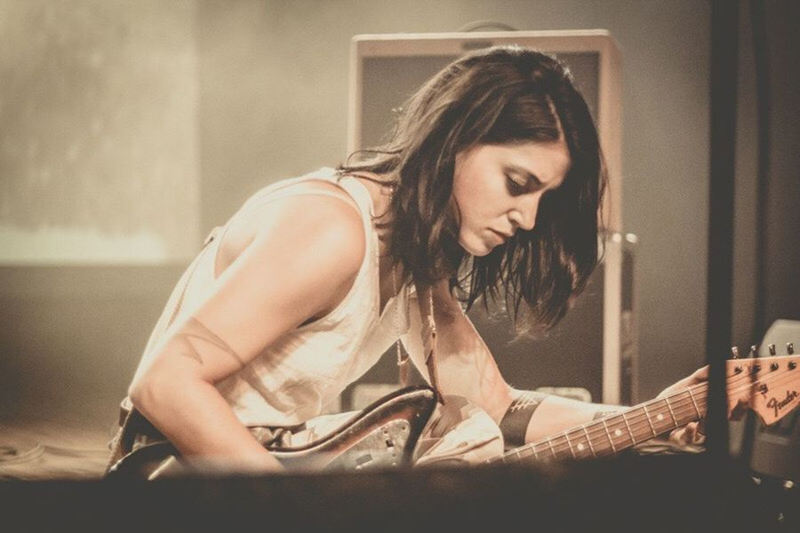 Sharon Van Etten .|. Musician Sharonvanetten Women Who Rock Poet Singer  Song Writer Concert Photography Concert Color Milwaukee, Wisconsin Milwaukee Turner Hall I Love Music Taking Photos Enjoying Life Wisconsin Band Music Is My Life People Photography My Eye Fender Fenderguitar
