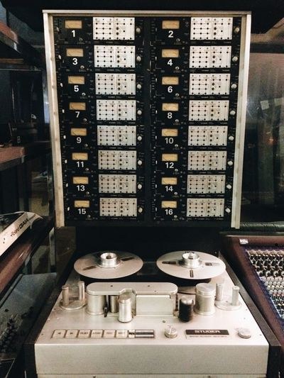 TakeoverMusic Indoors  No People Day Audio Engineering Recording Tape Machine Studer Analog Music Production