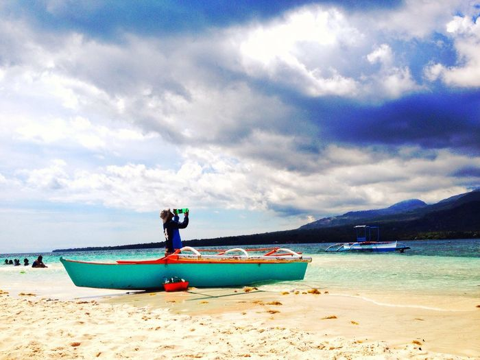 The Great Outdoors - 2016 EyeEm Awards Beach Life Fun Shoot Blue Sky Clear Sea Volcanoes Boat White Island Camiguin Eyeem Galery A Week On Eyeem Eyeem Philippines Hot Summer Day The Essence Of Summer The EyeEm Facebook Cover The 2016 EyeEm Awards