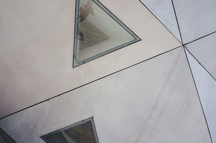 Tel Aviv Museum Of Art Front Façade Taking Photos ThatsMe Triangles Urban Geometry Geometry Pattern Architectural Detail Urban Lines