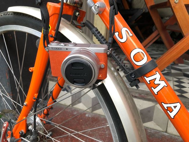 Love the orange Orange Color No People Transportation High Angle View Day Mode Of Transportation Land Vehicle Close-up Outdoors Metal Bicycle Wheel Tire Sunlight