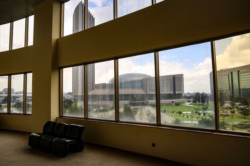 The Week On EyeEm African Union. Window Glass - Material Indoors  Architecture Sky Cityscape Day Built Structure Skyscraper Looking Through Window No People Modern City