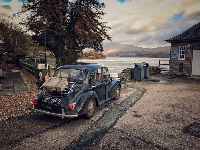 Morrisminor Vintage Classic Car Vintage Cars Roadtrip Morris Minor 1000 Scottish Highlands Scotland Nature No People Stationary Mode Of Transport Loch Lomond Loch