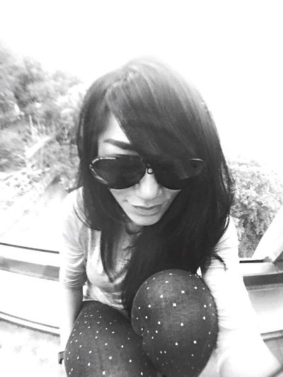 Selfie time ThatsMe Myself Self Portrait Selca Vacations Holiday Hallo World Thats Me  Blackandwhite Blackhair