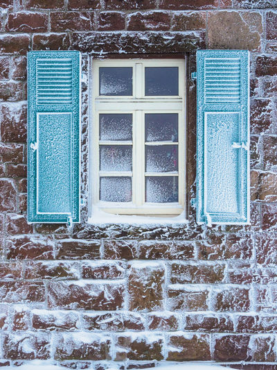 Closed window of old house