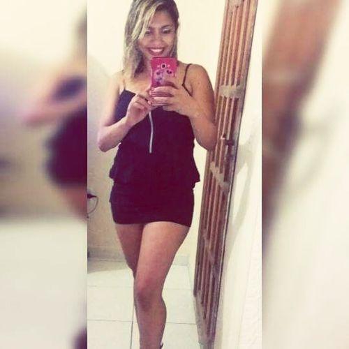Brazilian Woman Black Dress Beautiful Woman Blond Hair
