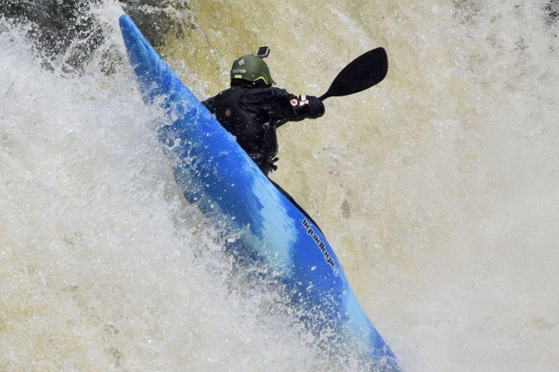 Man surfing in water
