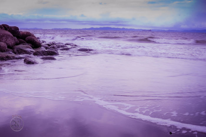 Rocas Y Mar Violeta Beauty In Nature Cloud - Sky Day Nature Outdoors Playa #beach Scenics Sea Sky Tranquil Scene Tranquility Water Wave